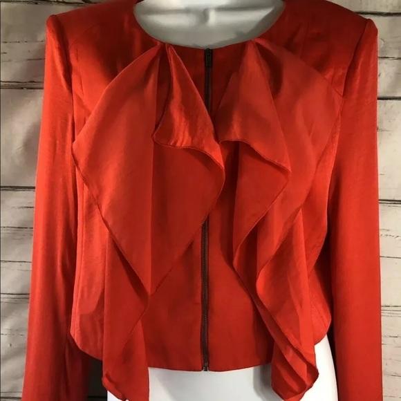 BCBGMaxAzria Jackets & Blazers - BCBG Max Azria Preston M, cascade  Zip Blazer,